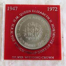 1972 ELIZABETH AND PHILIP CROWN - red surround