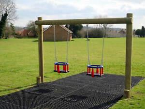 Rubber Mats Outdoor Children's Playground Area Safety Flooring Heavy Duty 1x1.5m