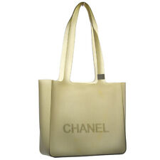 CHANEL CC Logos Shoulder Tote Bag Purse Brown Rubber Vintage Authentic AK38101a