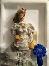 MINT MEMORIES Barbie Doll, Victorian Tea PORCELAIN- 1st in a Series, NEW In BOX