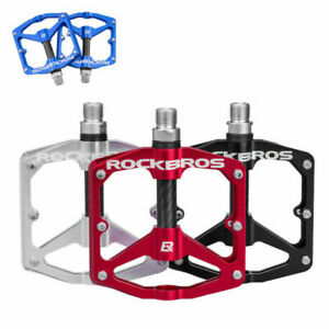 ROCKBROS Bicycle Pedals 9/16 Lightweight Carbon Fiber Sealed Bearing Flat Pedal