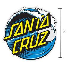 3 Inch Santa Cruz Classic Wave Dot Skateboard Sticker Decal Screaming Hand OG
