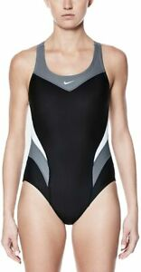 Nike Women's Victory Color Block Power Back Tank One Piece Swimsuit