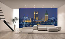 London at Night, Wall Mural Photo Wallpaper GIANT DECOR Paper Poster Free Paste
