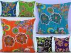 Indian Cushion Cover Handmade Floral 100% Cotton Embroidered Kantha Pillow Cover