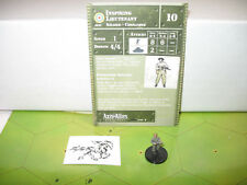 Axis & Allies 1939-1945 Inspiring Lieutenant with card 3/60