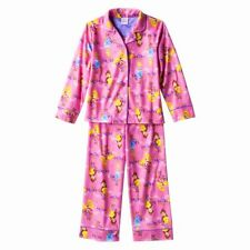 Disney Princess Flame Resistant Girls 2PC PINK Sleepwear Pajama Set XS (4/5) NWT