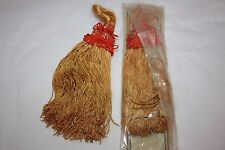 """Pair of True Vintage Tassels New Nos Gold and Red 8.25"""" Long Curtain Tie Backs"""