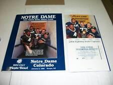 Notre Dame vs. Colorado Fiesta Bowl Media Guide 1-2-95