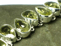 Green  AMETHYST  Sterling  Silver  925  Gemstone  BRACELET -  Gift Boxed