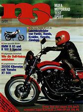 mo 3/81 1981 Zündapp KS80 Hesketh 1000 Husqvarna 125WR Vespa 50N Yamaha RD80