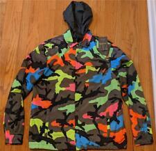 $1550 Mens Authentic Valentino Neon Camo Windbreaker Jacket 50 US 40 - Medium