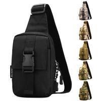 Men Backpack Mini Tactical Sling Chest Pack Shoulder Bag Outdoor Hiking Travel