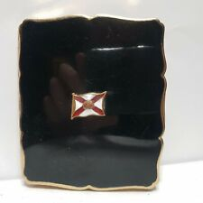 Royal Mail line Black enamel and gilt cigarette case by stratton