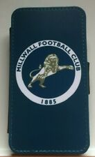 Millwall FC Leather Flip iPhone 4 5 6s 6+ 7 7plus 8 8+ X XS 11 Pro Max Case