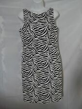 Ladies Size 10 California Concepts Zebra Print Wiggle Pencil Fitting Dress