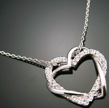 Chain And Pendant Heart Silver And Cubic Zirconia