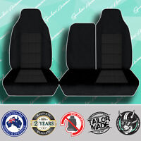 HINO 300 2008-ONWARD BLACK HIGH QUALITY PREMIUM JACQUARD 3/4 BENCH VAN SEATCOVER