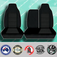 FOR TOYOTA HIACE BLACK HIGH QUALITY HEAVY DUTY JACQUARD 3/4 BENCH SEAT COVERS