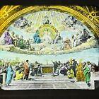 Vtg Magic Lantern Glass Slide Photo Color Dispute Of the Sacrament