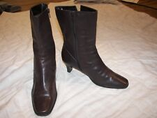 Women's Isotoner Brown Leather Boots - 7M