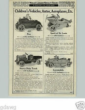 1929 PAPER AD American Pedal Car Lindy Spirit Of St. Louis Locomobile Dump Truck