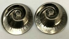 Silver tone Black Rhodium Designer Clip Back Earrings