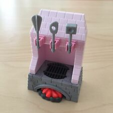 Playmobil Pink Princess Castle Fireplace Stove with Kitchen Utensils and Fire