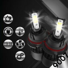 2 x 9007 HB5 COB White LED Headlight 6000K 48800LM Bulbs for Low & High Beam !