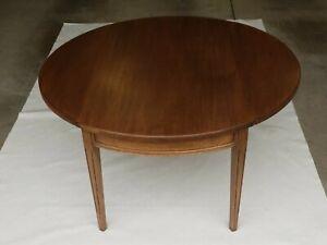 VINTAGE Round Drop Leaf Wood Coffee Table MCM Mid Century Modern RARE Pick Up *