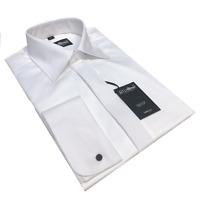 "100% COTTON FINE SWISS PLEAT WHITE DRESS SHIRT 15 16 17 18 19 21 22 23 1/2 """