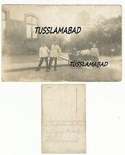 Holmstraße 7 Kinder mit Bollerwagen Haus Gebäude Postkarte