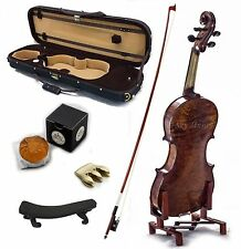 4/4 Antique Style Professional Handmade VN421 Violin Kit w Case Bow Rosin Mute
