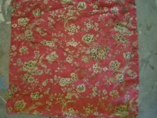 """Pottery Barn """"Red w/ Beige Floral"""" 18"""" Linen Pillow Cover"""