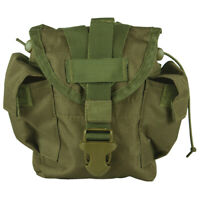 NEW Military Style Tactical Survival MOLLE 1 qt Canteen Cover Pouch OD GREEN OLV