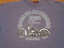 HARLEY DAVIDSON MOTORCYCLE 95tH ANNIVERSARY 1903-1998 ALBERTA CANADA T-SHIRT-LG