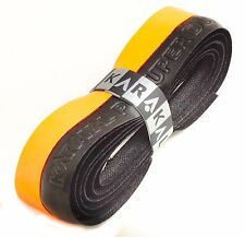 Karakal Super DUO PU Replacement Grips Orange/Black - Tennis - Squash Badminton