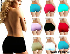 Ladies Women Neon Stretchy Sexy Hot Pants Boxer Shorts Dance Gym Party Comfy