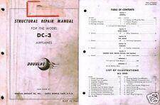 DOUGLAS DC-3 C-47 DAKOTA Structural Repair Manual vintage aircraft archive 1940s