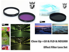 F309a Filter Lens Kit Macro Close Up +10 / ND1000 / FLD / Case for Nikon P900