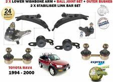 FOR TOYOTA RAV 4 1994-2000 2x FRONT WISHBONE SUSPENSION ARM + BUSHES + LINKS SET