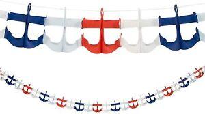 Fun Express - Nautical Anchor Garland for Birthday - Party Decor - 1 PIECE