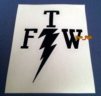 FOREVER TWO WHEELS DECAL STICKER VINYL outlaw biker ftw motorcycle tank badge