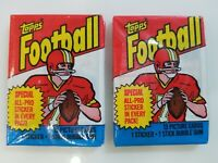 1983 TOPPS FOOTBALL WAX PACKS  (2 packs)  Sealed - Marcus Allen  PSA