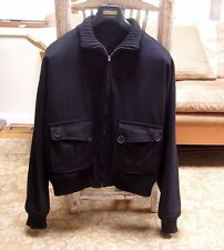 "Gucci Mens Black Wool Bomber Jacket Coat Size Large 40-42 /50 EU ""Authentic"""