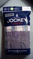 NEW Jockey Big Man XXL Pack 2 Full Cut Woven Boxers Size 2XL 44-46 Plaids Multi