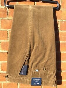 Mens Gurteen 100% Cotton needle corduroy trouser - Colour:- Cork  BNWT