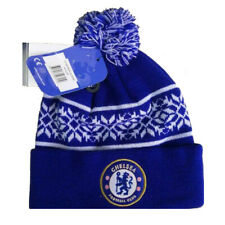CHELSEA FC SNOWFLAKE CUFF KNITTED HAT CAP WINTER NEW CHRISTMAS XMAS GIFT