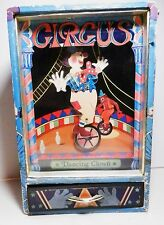 Vintage CIRCUS Musical Jewel Box DANCING CLOWN on Unicylcle -Send in the Clowns