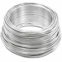 Aluminum Wire 101ft , Bendable Metal Craft Wire for DIY Crafts, 12 Gauge